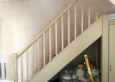 Stairs-new-handrail-spindles-and-newel-post